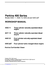 Perkins 404C-22 Manuals