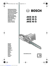 Bosch AKE 30 S Operating Instructions Manual