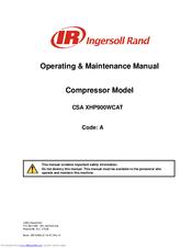 ingersoll rand csa xhp900wcat manuals rh manualslib com ingersoll rand air compressor service manual ingersoll rand 185 cfm air compressor service manual