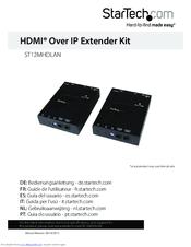 Startech com ST12MHDLAN Manuals
