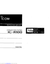 icom ic r100 manuals rh manualslib com Mazda R100 Robot R100