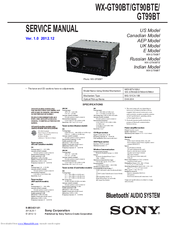 sony wx gt90bt manuals sony wx-gt90bt wiring diagram sony wx gt90bt service manual