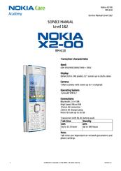 nokia x2 00 service manual pdf download rh manualslib com Nokia X2- 02 Nokia X2 00 Features