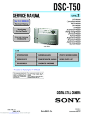Sony Cyber-shot DSC-T50 Service Manual