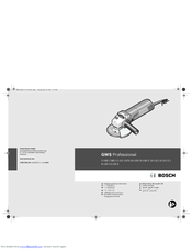 Bosch GWS 6-115 (E) Original Operating Instructions