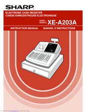 sharp xe a203a manuals rh manualslib com Sharp XE a21s Keys Cash Register Sharp XE a21s Problem
