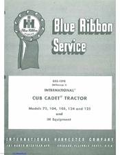 CUB CADET 105 SERVICE MANUAL Pdf Download
