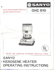 Sanyo OHC 510 Operating Instructions Manual