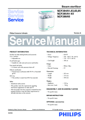Philips SCF285/03 Service Manual