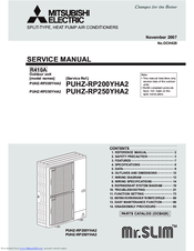 Mitsubishi Electric Mr.Slim PUHZ-RP200YHA2 Service Manual