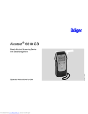 dr ger alcotest 6810 gb manuals rh manualslib com Draeger Alcotest 5820 Alcotest 5000 Draeger