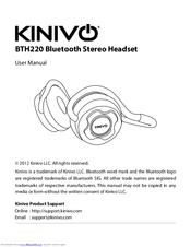 Kinivo bth220 bluetooth stereo headphone – supports wireless music.