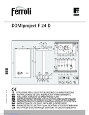 Ferroli Domiproject F 24 D Manuals