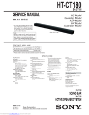 sony ht ct180 manuals