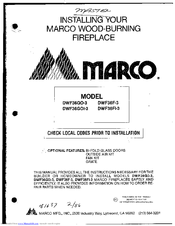 Marco DWF36F-3 Pdf User Manuals. View online or download Marco DWF36F-3 Installation Manual