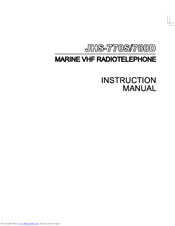 JRC JHS-780D - Instruction Manual