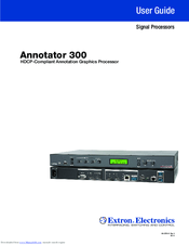 EXTRON ANNOTATOR 300 PROCESSOR WINDOWS VISTA DRIVER