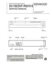 kenwood dv 705 multiple dvd vcd cd player service manual