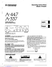 pioneer a 337 manuals rh manualslib com pioneer a 109 amplifier manual pioneer a 109 amplifier manual
