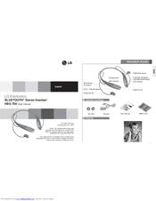 lg hbs 700 manuals rh manualslib com lg tone hbs 730 user manual pdf LG Bluetooth HBS-700 Pairing