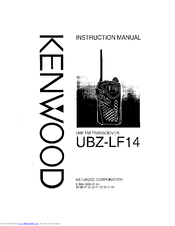 kenwood ubz lf14 manuals rh manualslib com Kenwood ubZ LF14 Walkie Talkies Coflex Unna Boot Kit