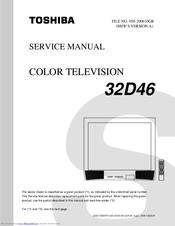 toshiba 32d46 32 crt tv manuals rh manualslib com Toshiba E-Studio203sd Manuals Toshiba 55HT1U Manual