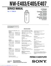 sony nw e505 network walkman manuals rh manualslib com sony walkman manual nwz e385 sony walkman manuals online