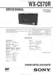 Sony WX-C570R Service Manual