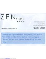 creative zen stone plus manuals rh manualslib com Zen Creative Earbuds creative zen stone plus user guide