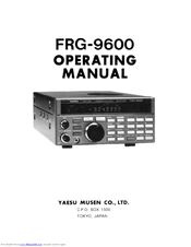 yaesu frg 9600 manuals rh manualslib com User Guide Icon User Guide Template