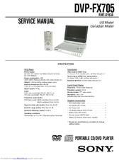 sony dvp fx705 portable dvd player manuals rh manualslib com Classic DVD Player Manual Sony Portable DVD Player Manual