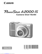 canon powershot a2000 is manuals rh manualslib com Canon PowerShot Camera Manual Canon PowerShot User Manual
