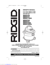 RIDGID WD06700 Owner's Manual