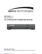 speco d4vt user manual pdf download rh manualslib com Speco DVR 8 Channel Speco Player