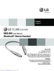 lg tone infinim hbs900 manuals rh manualslib com lg tone user manual lg tone ultra manual