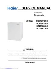haier hc17sf15rw manuals rh manualslib com Haier Portable Air Conditioner Manual Haier Refrigerator Manuals