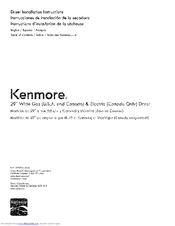 Kenmore 110C61402311 Installation Instructions Manual