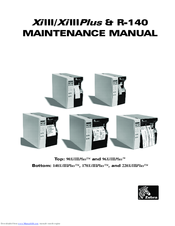 zebra 140xiiii plus manuals rh manualslib com  zebra 140xiiii plus maintenance manual