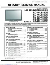 SHARP LC-40LE820E SERVICE MANUAL Pdf Download