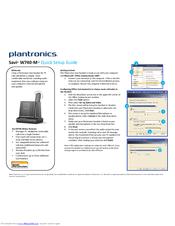 Plantronics savi 740-m wireless headset user guide.