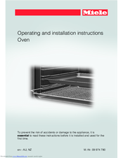 Miele BK1 H6x67 Operating And Installation Instructions