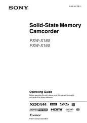 Sony pxw-x160 инструкция