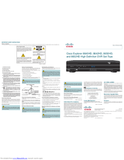 Cisco 8640HD Quick Reference Manual