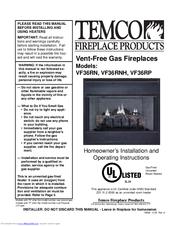 Temco gas fireplace – fotografija.