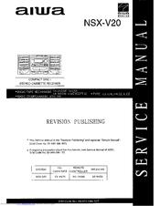 aiwa nsx v20 manuals rh manualslib com Aiwa Nsx 3500 Aiwa Nsx D22