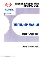 Hino Motors Wo6D-TI-II Manuals