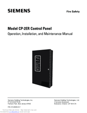 Siemens CP-2ER Operation, Installation, And Maintenance Manual