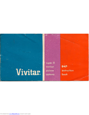 Vivitar vivicam 8225 user manual | 58 pages.