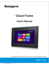 sungale cloud frame cpf1032 manuals