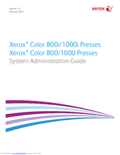 Xerox Color 1000i Press System Administration Manual